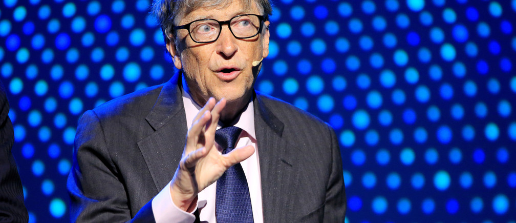 Bill Gates, co-founder of the Bill & Melinda Gates Foundation, speaks during the Neglected Tropical Diseases Summit in Geneva, Switzerland, April 18, 2017. REUTERS/Pierre Albouy - RTS12SB2