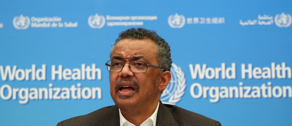 Director-General of the World Health Organization (WHO) Tedros Adhanom Ghebreyesus speaks during a news conference after a meeting of the Emergency Committee on the novel coronavirus (2019-nCoV) in Geneva, Switzerland January 30, 2020. REUTERS/Denis Balibouse - RC2KQE9VEIWO