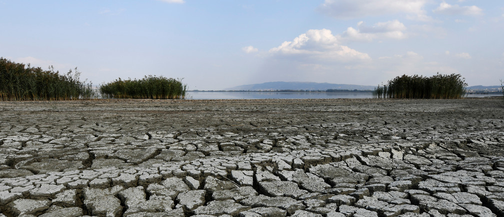 A dried-out part of Lake Koronia, Greece, September 19, 2019. Picture taken September 19, 2019. REUTERS/Alexandros Avramidis - RC111636F3D0
