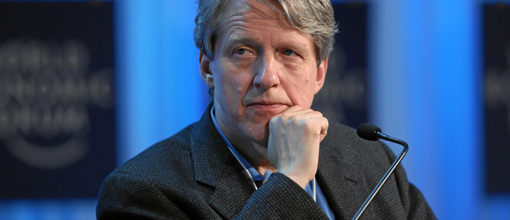 DAVOS/SWITZERLAND, 28JAN12 - Robert J. Shiller, Arthur M. Okun Professor of Economics, Yale University, USA is captured during the session 'Pundits, Professors and their Predictions' at the Annual Meeting 2012 of the World Economic Forum at the congress centre in Davos, Switzerland, January 28, 2012.Copyright by World Economic Forumswiss-image.ch/Photo by Moritz Hager