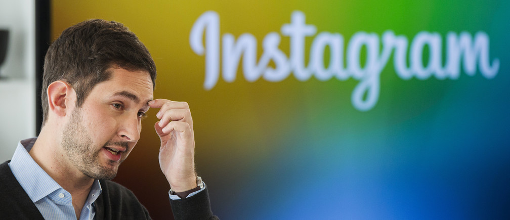 Instagram Chief Executive Officer and co-founder Kevin Systrom speaks during the launch of a new service named Instagram Direct in New York December 12, 2013. Photo-sharing service Instagram unveiled a new feature on Thursday to let people send images and messages privately, as the Facebook-owned company seeks to bolster its appeal among younger consumers who are increasingly using mobile messaging applications. The new Instagram Direct feature allows users to send a photo or video to a single person or up to 15 people, and have a real-time text conversations. REUTERS/Lucas Jackson (UNITED STATES - Tags: SCIENCE TECHNOLOGY BUSINESS) - RTX16FKV
