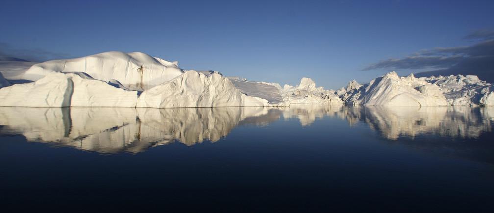 The Jakobshavn ice fjord near Ilulissat.