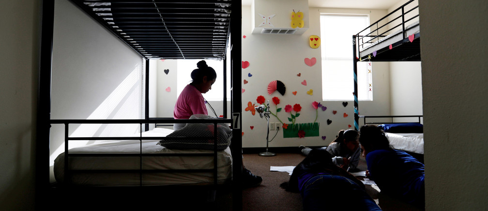 Decorations cover the walls in the rooms of immigrants at the U.S. government's newest holding center for migrant children in Carrizo Springs, Texas, U.S. July 9, 2019. Long trailers once used to house oil workers in two-bedroom suites have been turned into 12-person dorms, with two pairs of bunk beds in each bedroom and the living room.     Picture taken July 9, 2019.