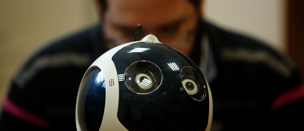 A research support officer and PhD student works on his artificial intelligence project to train robots to autonomously carry out various tasks, at the Department of Artificial Intelligence in the Faculty of Information Communication Technology at the University of Malta in Msida, Malta February 8, 2019. REUTERS/Darrin Zammit Lupi - RC1A65028440