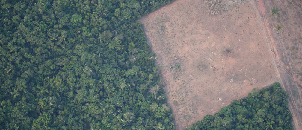An aerial view shows a deforested plot of the Amazon near Porto Velho, Rondonia State, Brazil August 21, 2019. Picture taken August 21, 2019.