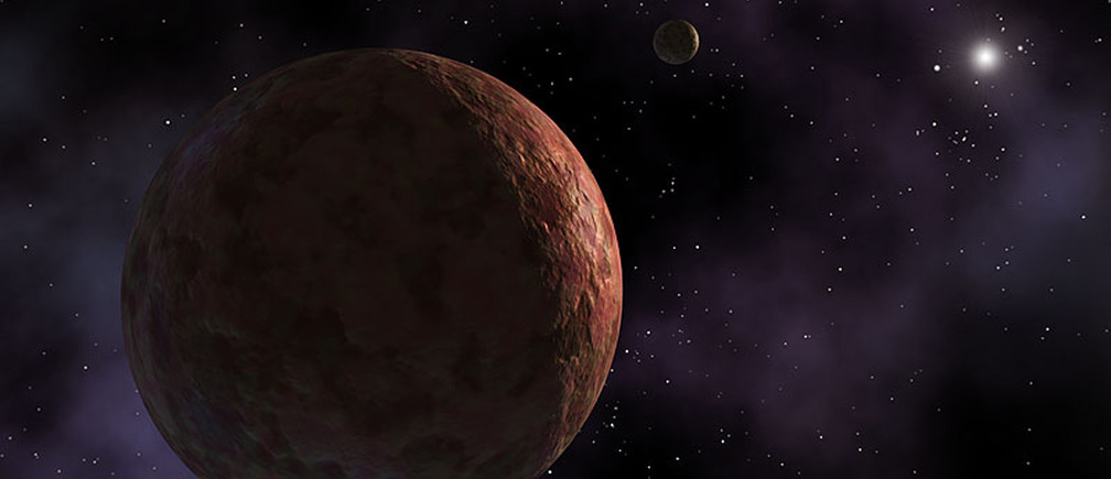 """A newly discovered planet-like object, dubbed """"Sedna"""" is seen in this artist's concept released by NASA March 26, 2014. Astronomers have found a small icy body far beyond Pluto and the Kuiper Belt, a discovery that calls into question exactly what was going on during the early days of the solar system.   REUTERS/NASA/JPL-Caltech/Handout via Reuters (OUTER SPACE - Tags: SCIENCE TECHNOLOGY) ATTENTION EDITORS - THIS PICTURE WAS PROVIDED BY A THIRD PARTY. REUTERS IS UNABLE TO INDEPENDENTLY VERIFY THE AUTHENTICITY, CONTENT, LOCATION OR DATE OF THIS IMAGE. THIS PICTURE IS DISTRIBUTED EXACTLY AS RECEIVED BY REUTERS, AS A SERVICE TO CLIENTS. FOR EDITORIAL USE ONLY. NOT FOR SALE FOR MARKETING OR ADVERTISING CAMPAIGNS - GM1EA3R08RF01"""