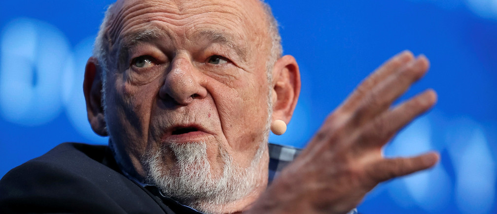 Sam Zell, founder and chairman at Equity Group Investments, speaks during the SALT conference in Las Vegas, Nevada, U.S. May 17, 2017.  REUTERS/Richard Brian - RTX36ANU