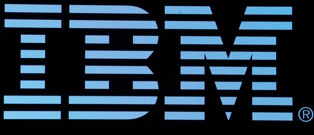 The logo for IBM is displayed on a screen on the floor of the New York Stock Exchange (NYSE) in New York, U.S., June 27, 2018. REUTERS/Brendan McDermid - RC16EF48DDF0
