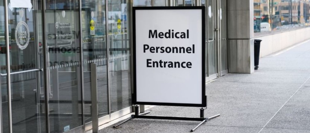 Entrance to medical facility.