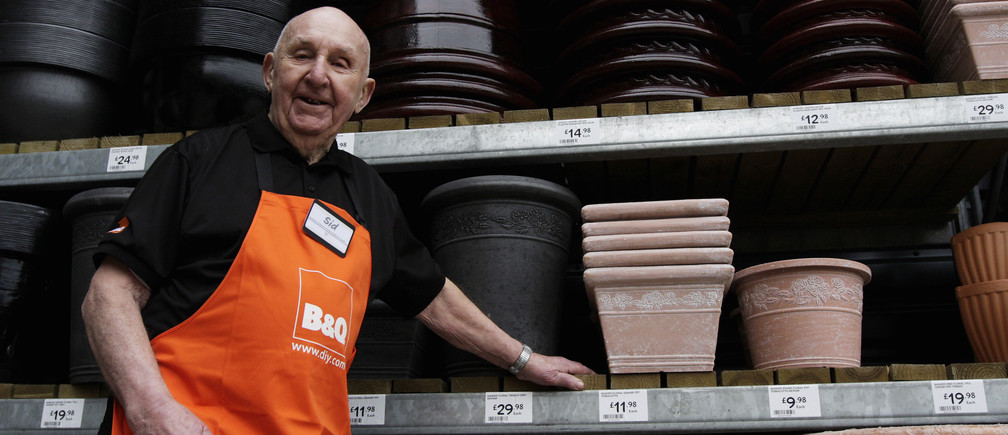 Londoner Sydney Prior, who worked at a home-improvement store until he was 96.
