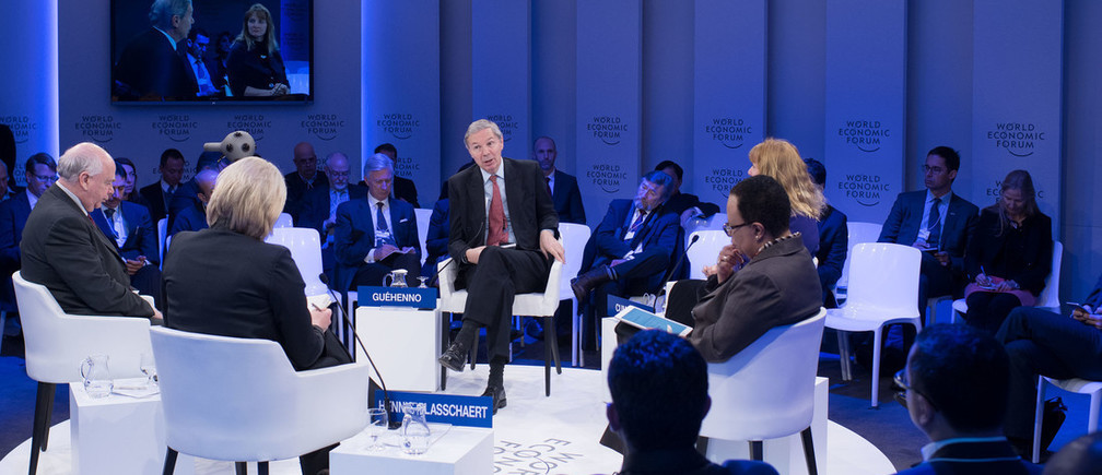 "General view during the Session ""The Future of Warfare"" at the World Economic Forum in Davos, January 18, 2017. Copyright by World Economic Forum / Valeriano Di Domenico."