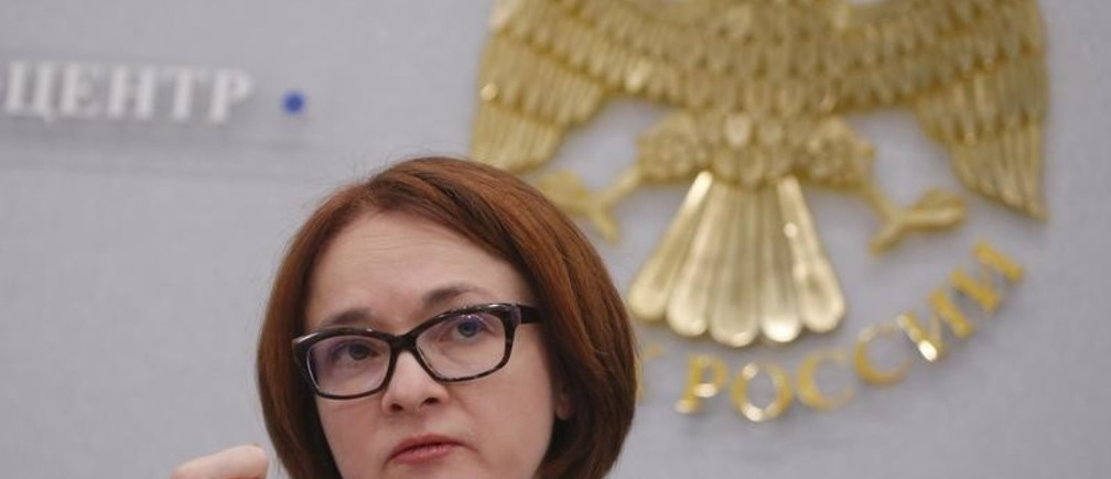 Russian central bank governor Elvira Nabiullina gestures during a news conference in Moscow, Russia, December 16, 2016.