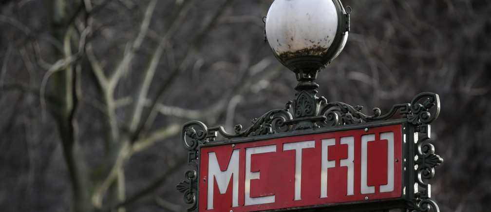 A Metro station sign is seen in central Paris, France, January 26, 2016.  REUTERS/Christian Hartmann