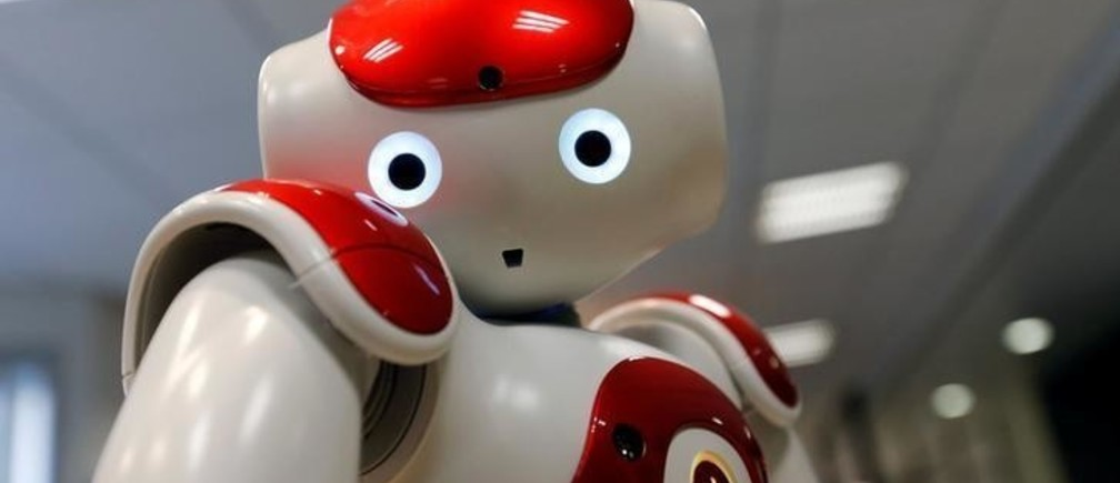 The Robot Assistant NAO, from SoftBank Robotics, is pictured in Paris, France, March 9, 2018. Picture taken March 9, 2018. REUTERS/Regis Duvignau