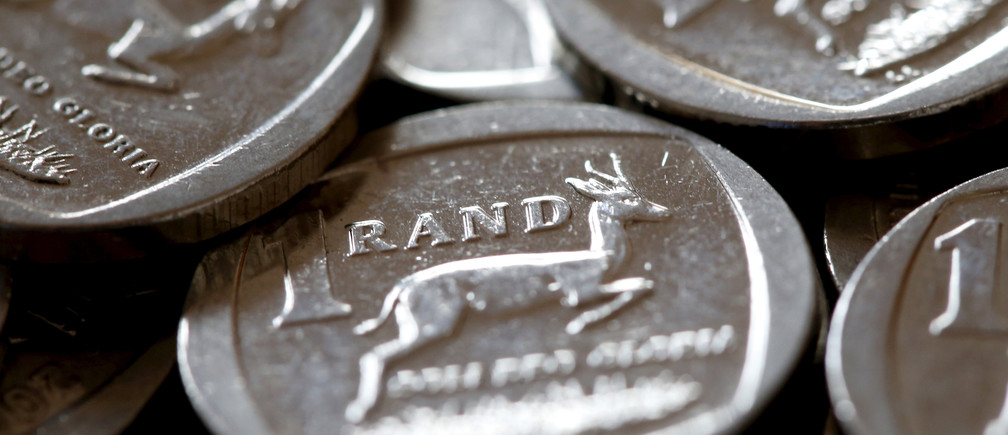 South African Rand coins are seen in this photo illustration taken September 9, 2015.