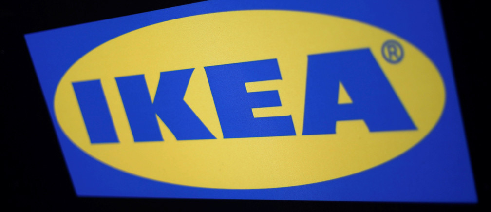The logo of the Swedish furniture giant IKEA is seen in Mexico City, Mexico May 22, 2019. REUTERS/Edgard Garrido - RC18A398C9C0