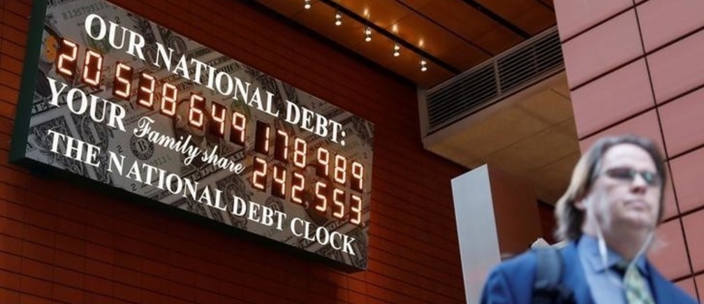 The National Debt Clock is seen in the Manhattan borough of New York City, New York, U.S., November 30, 2017. REUTERS/Shannon Stapleton