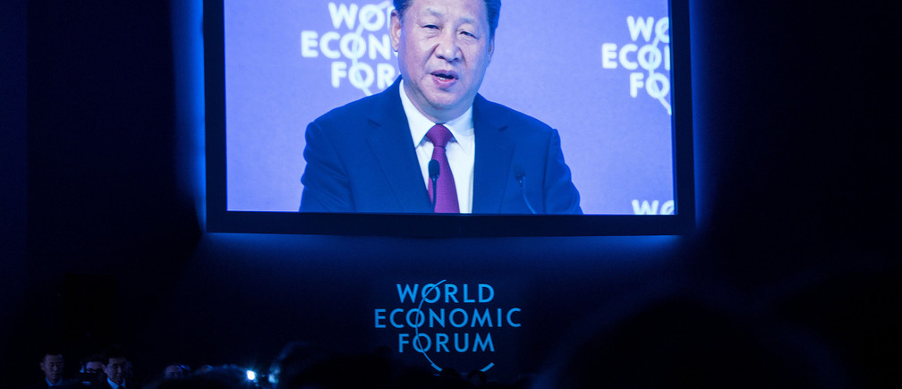 Xi Jinping, President of the People's Republic of China in Davos, January 17, 2017.  World Economic Forum/Valeriano Di Domenico