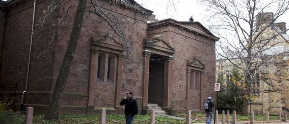 The Skull and Bones Society  building of Yale University in  New Haven, Connecticut, November 28, 2012. REUTERS/Michelle McLoughlin (UNITED STATES - Tags: EDUCATION)