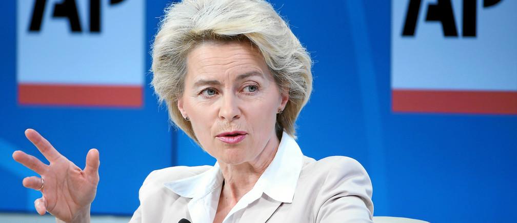 """La presidenta de la Comisión Europea, Ursula von der Leyen, calificó esta conferencia online de """"un verdadero maratón""""."""