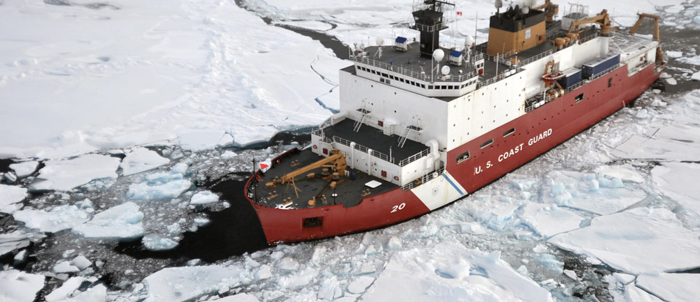 A US icebreaker during an Arctic expedition
