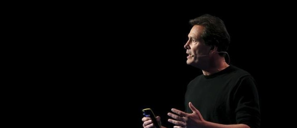 Dan Schulman, CEO of PayPal, delivers a keynote speech during the Mobile World Congress in Barcelona, Spain February 22, 2016. REUTERS/Albert Gea