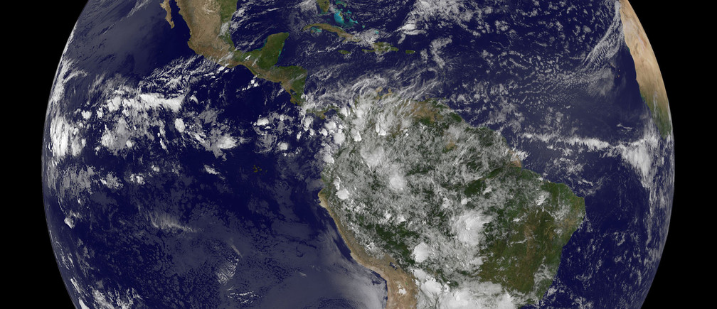 The planet Earth is seen in a photo taken by NOAA's GOES-East satellite at 07:45EST (11:45GMT) on Earth Day, April 22, 2014. The image shows the Americas, reaching from Canada to the tip of South America.   REUTERS/NOAA/Handout  (OUTER SPACE - Tags: SCIENCE TECHNOLOGY ENVIRONMENT) ATTENTION EDITORS - THIS PICTURE WAS PROVIDED BY A THIRD PARTY. REUTERS IS UNABLE TO INDEPENDENTLY VERIFY THE AUTHENTICITY, CONTENT, LOCATION OR DATE OF THIS IMAGE. THIS PICTURE IS DISTRIBUTED EXACTLY AS RECEIVED BY REUTERS, AS A SERVICE TO CLIENTS. FOR EDITORIAL USE ONLY. NOT FOR SALE FOR MARKETING OR ADVERTISING CAMPAIGNS - RTR3M8RF