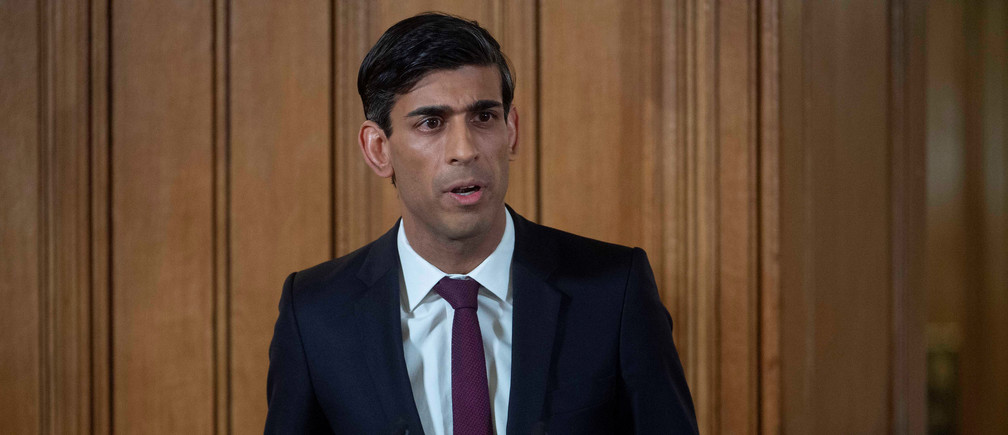 Britain's Chancellor of the Exchequer Rishi Sunak attends a news conference on the ongoing situation with the coronavirus disease (COVID-19) in London, Britain March 20, 2020.  Julian Simmonds/Pool via REUTERS - RC2UNF92XRKG