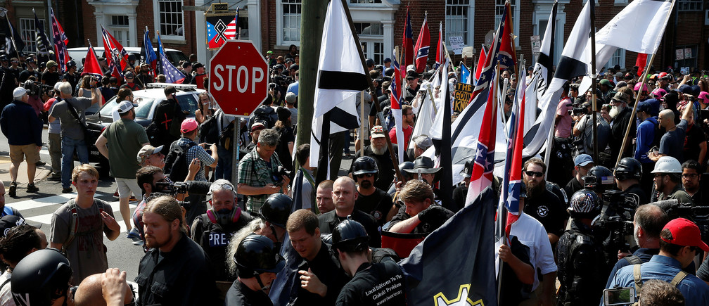 White supremacists rally in Charlottesville, Virginia, U.S., August 12, 2017.   REUTERS/Joshua Roberts - RC13D3DA9160