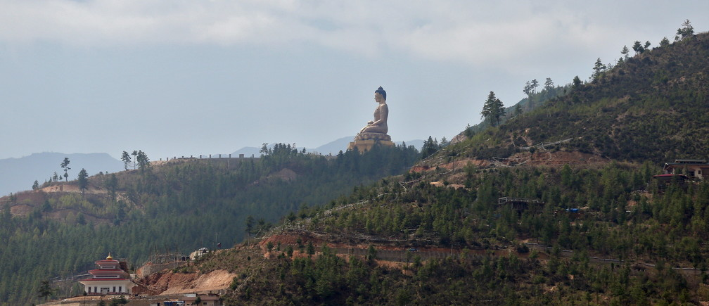 The Buddha Dordenma statue overlooks the town of Thimphu, Bhutan, April 18, 2016.  REUTERS/Cathal McNaughton