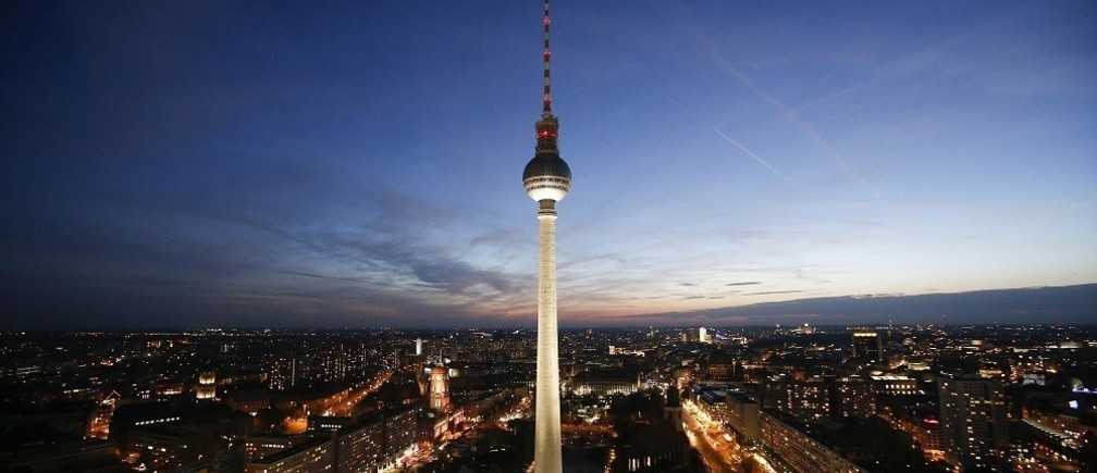 The TV tower at Alexanderplatz square during sunset in Berlin, November 2, 2014.
