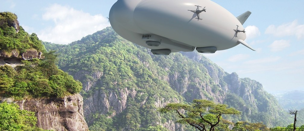 Back to the future: an artist's impression of an airship developed by aerospace company Lockheed Martin