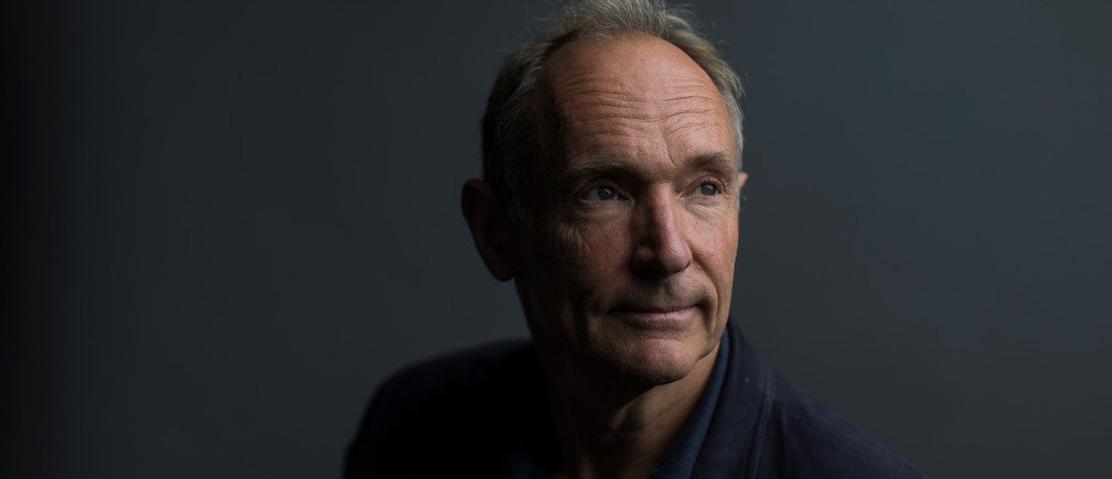 World Wide Web founder Tim Berners-Lee poses for a photograph following a speech at the Mozilla Festival 2018 in London, Britain October 27, 2018. Picture taken October 27, 2018