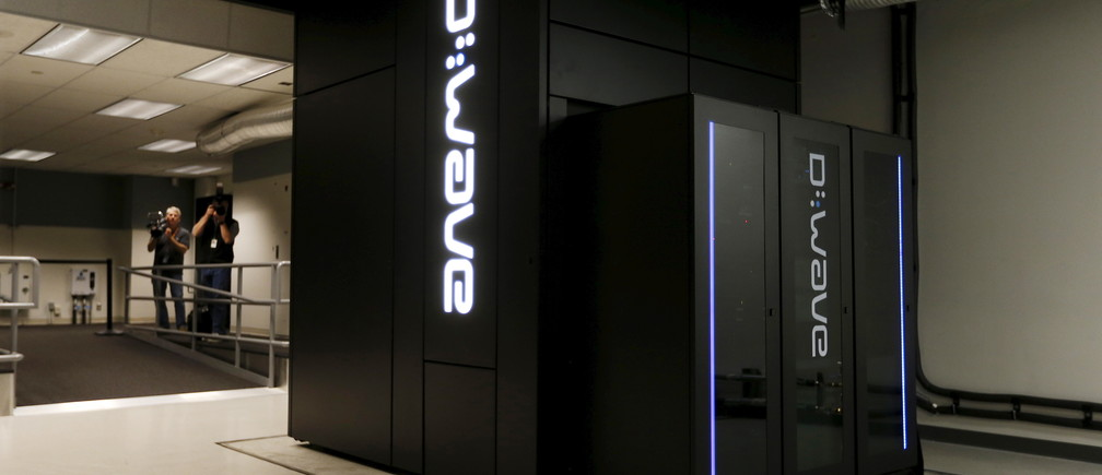 A D-Wave 2X quantum computer is pictured during a media tour of the Quantum Artificial Intelligence Laboratory (QuAIL) at NASA Ames Research Center in Mountain View, California December 8, 2015. Housed inside the NASA Advanced Supercomputing (NAS) facility, the 1,097-qubit system is the largest quantum annealer in the world and a joint collaboration between NASA, Google, and the Universities Space Research Association (USRA).