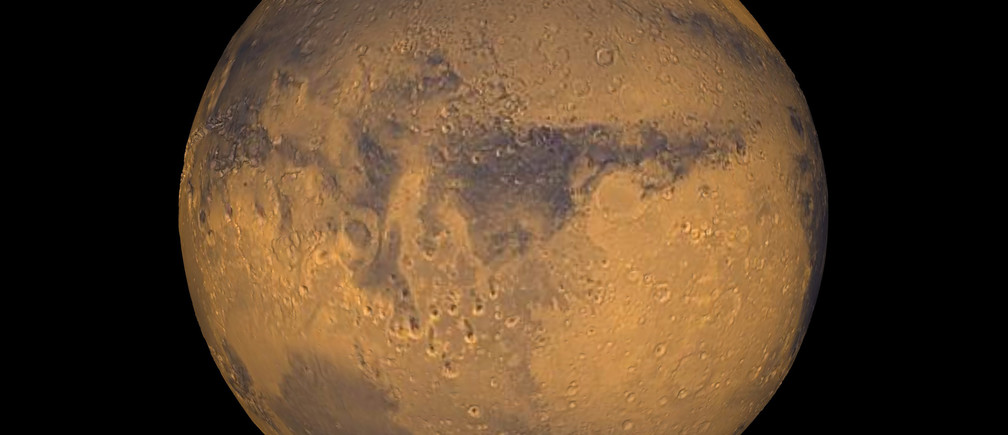 The planet Mars showing showing Terra Meridiani is seen in an undated NASA image. NASA will announce a major science finding from the agency?s ongoing exploration of Mars during a news briefing September 28 in Washington   REUTERS/NASA/Greg Shirah/Handout  THIS IMAGE HAS BEEN SUPPLIED BY A THIRD PARTY. IT IS DISTRIBUTED, EXACTLY AS RECEIVED BY REUTERS, AS A SERVICE TO CLIENTS. FOR EDITORIAL USE ONLY. NOT FOR SALE FOR MARKETING OR ADVERTISING CAMPAIGNS - TM3EB9S0TGE01