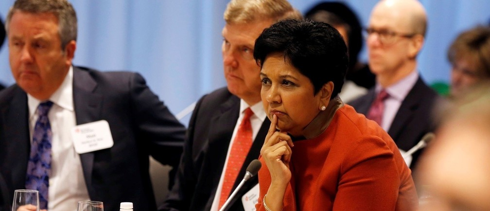 DATE IMPORTED:December 03, 2014CEO of PepsiCo Indra Nooyi listens to U.S. President Barack Obama answer questions from business leaders while at the quarterly meeting of the Business Roundtable in Washington