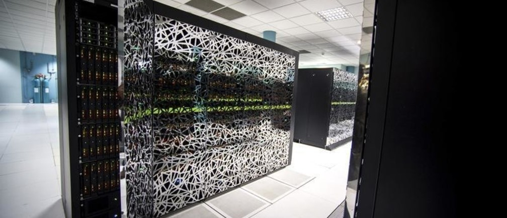Beaufix, one of the two Bull supercomputers of Meteo France, is seen at the Meteo-France Toulouse site, called Meteopole, outside the city of Toulouse, France, November 3, 2015. With two of the most powerful supercomputers in the world, French national meteorological service Meteo France participates in the international scientific work on climate change, on which is based the negotiations of the Climate Conference (COP21). Paris will host the World Climate Change Conference 2015 (COP21) from November 30 to December 11. Picture taken November 3, 2015.  REUTERS/Fred Lancelot  - LR1EBBQ0W545U