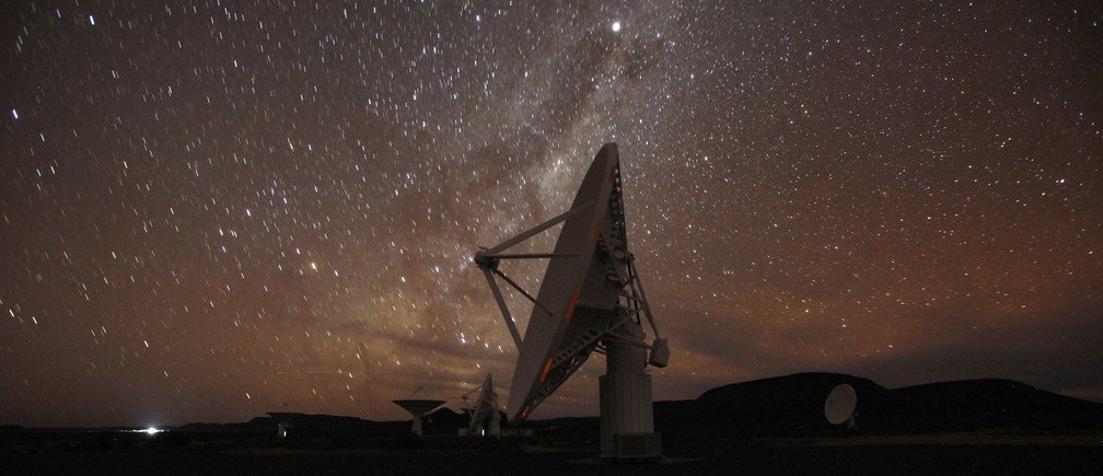 Radio telescopes at the proposed South African site for the SKA telescope.