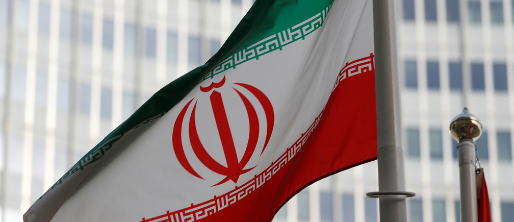 The Iranian flag flutters in front the International Atomic Energy Agency (IAEA) headquarters in Vienna, Austria March 4, 2019.   REUTERS/Leonhard Foeger - RC1A2FD12B40