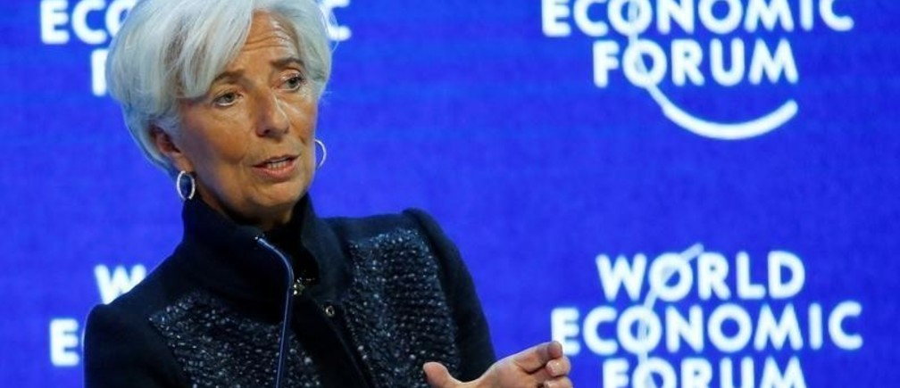 Christine Lagarde, Managing Director of the International Monetary Fund (IMF) attends a session during the annual meeting of the World Economic Forum (WEF) in Davos, Switzerland, January 23, 2016.  REUTERS/Ruben Sprich/File Photo - D1BEUDMTOOAB