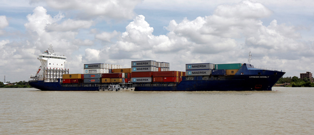 A cargo ship is pictured as it approaches Kidderpore Docks in Kolkata, India, June 30, 2016. REUTERS/Rupak De Chowdhuri/File photo - S1BEUBLCOFAA