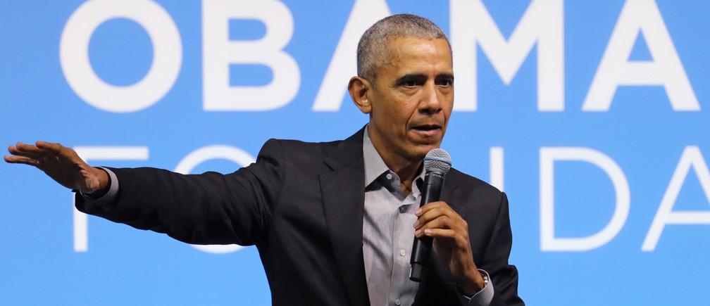 Former U.S. President Barack Obama speaks during an Obama Foundation event in Kuala Lumpur, Malaysia, December 13, 2019. REUTERS/Lim Huey Teng - RC24UD9ZCDSV