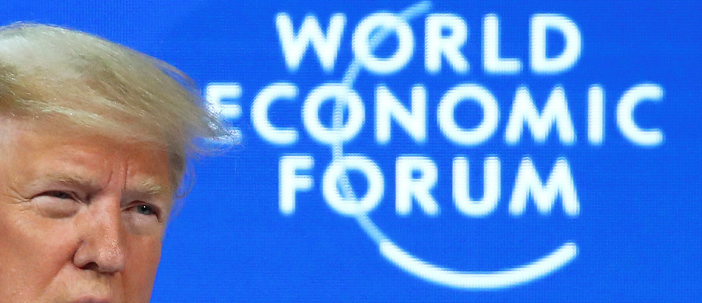 U.S. President Donald Trump delivers a speech during the 50th World Economic Forum (WEF) annual meeting in Davos, Switzerland, January 21, 2020. REUTERS/Denis Balibouse - RC2BKE9IHSUV