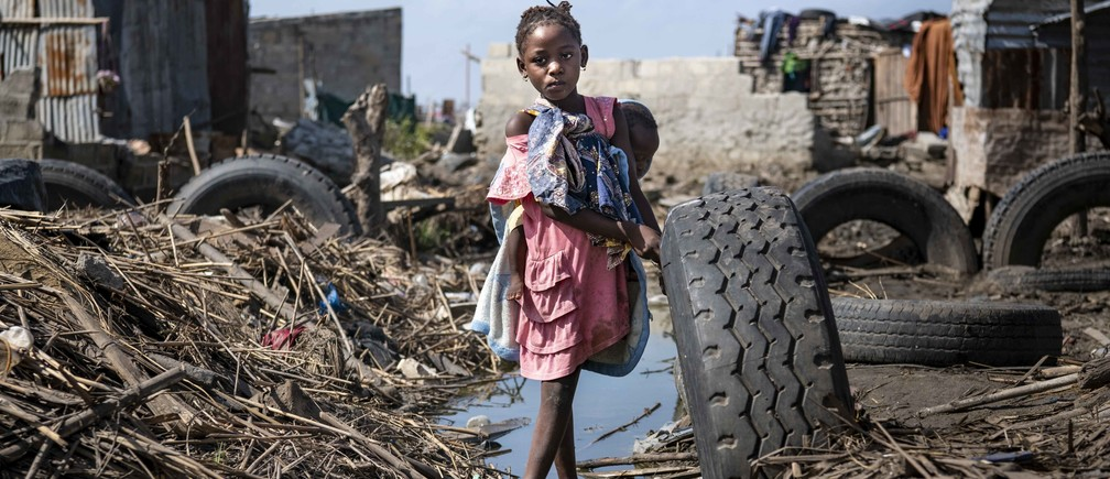 A child in Sofala province, Mozambique, after Cyclone Idai hit.