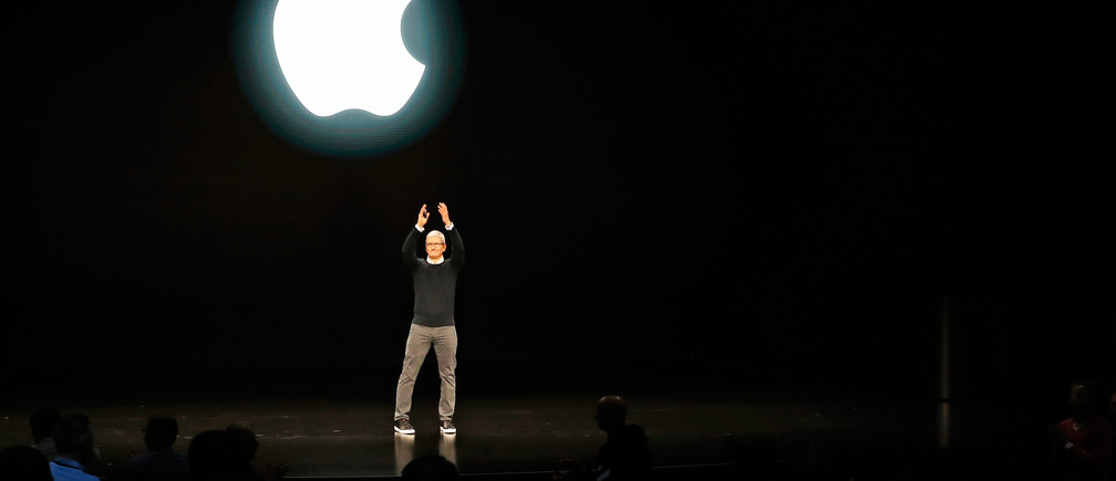 Tim Cook, CEO of Apple, says farewell at the end of an Apple special event at the Steve Jobs Theater in Cupertino, California, U.S., March 25, 2019. REUTERS/Stephen Lam - HP1EF3P1LSIR4