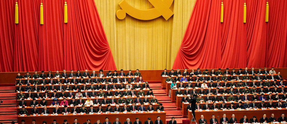 Chinese President Xi Jinping speaks during the opening session of the 19th National Congress of the Communist Party of China at the Great Hall of the People in Beijing, China October 18, 2017.  REUTERS/Aly Song - RC1FD3D65580