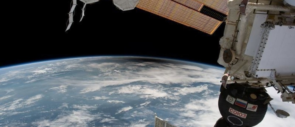 The umbra, the moon's shadow, over the United States from space is seen from the International Space Station from outer space, August 21, 2017 in this social media image.