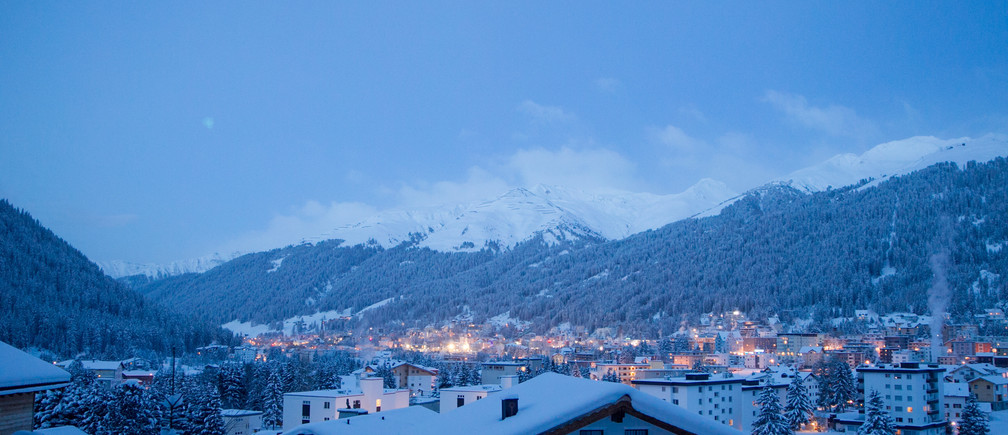 Early morning at the Annual Meeting 2017 of the World Economic Forum in Davos, January 16, 2017.Copyright by World Economic Forum / Greg Beadle