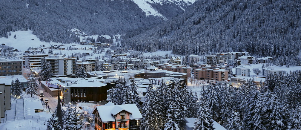 A general view of Davos ahead of the Annual Meeting 2016 of the World Economic Forum (WEF) in Davos, Switzerland January 18, 2016.