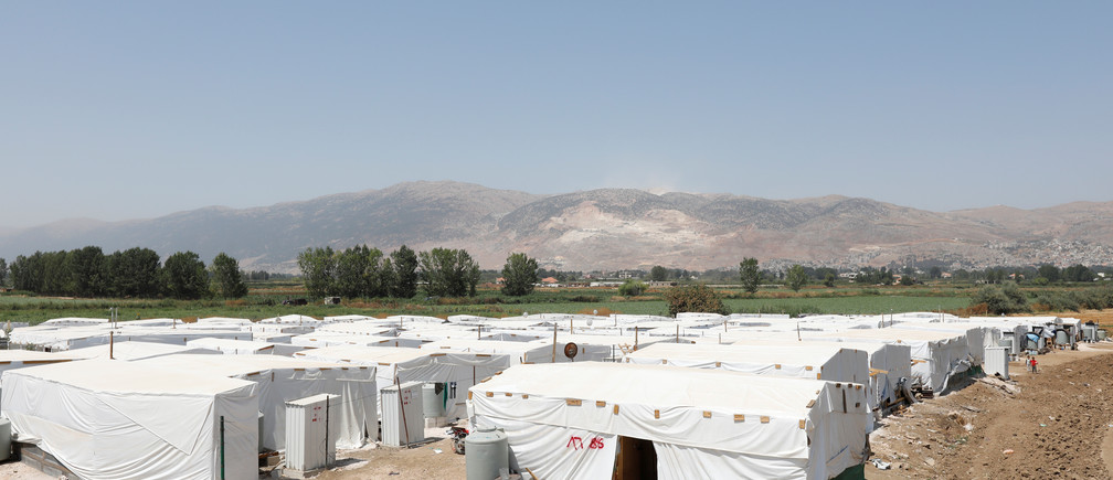 A view of a camp for Syrian refugees near the town of Qab Elias, in Lebanon's Bekaa Valley, August 8, 2017. Picture taken August 8, 2017. REUTERS/Jamal Saidi - RC1810CB2B90